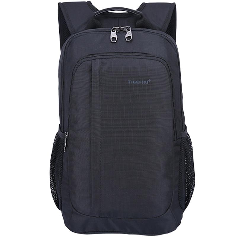 Black Leisure Travel Knapsack Men's 17 inch Laptop Backpack School Bags for Teenagers