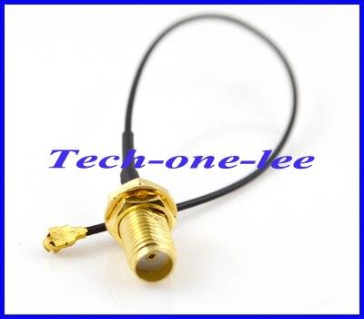 bilder für Freies Verschiffen 10 teile/los MINI PCI U. FL zu SMA-Stecker Antenne WiFi Zopf Kabel IPX zu SMA-Verlängerungskabel