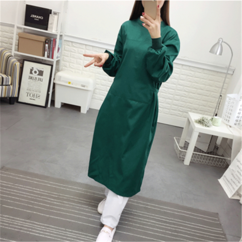 Pure Cotton Hand-washing Clothes Dark Green Operating Room Wear Hand-washing Clothes Hospital Brushing Clothes Doctor Isolation