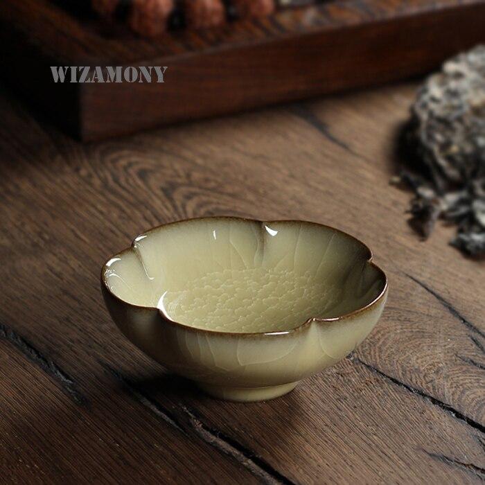 Китайский Longquan Топ Класс Celadon во сто крат треск Китай Чай чашки Чай чаша 70 мл для Книги по искусству коллекция великих Книги по искусству ist ч