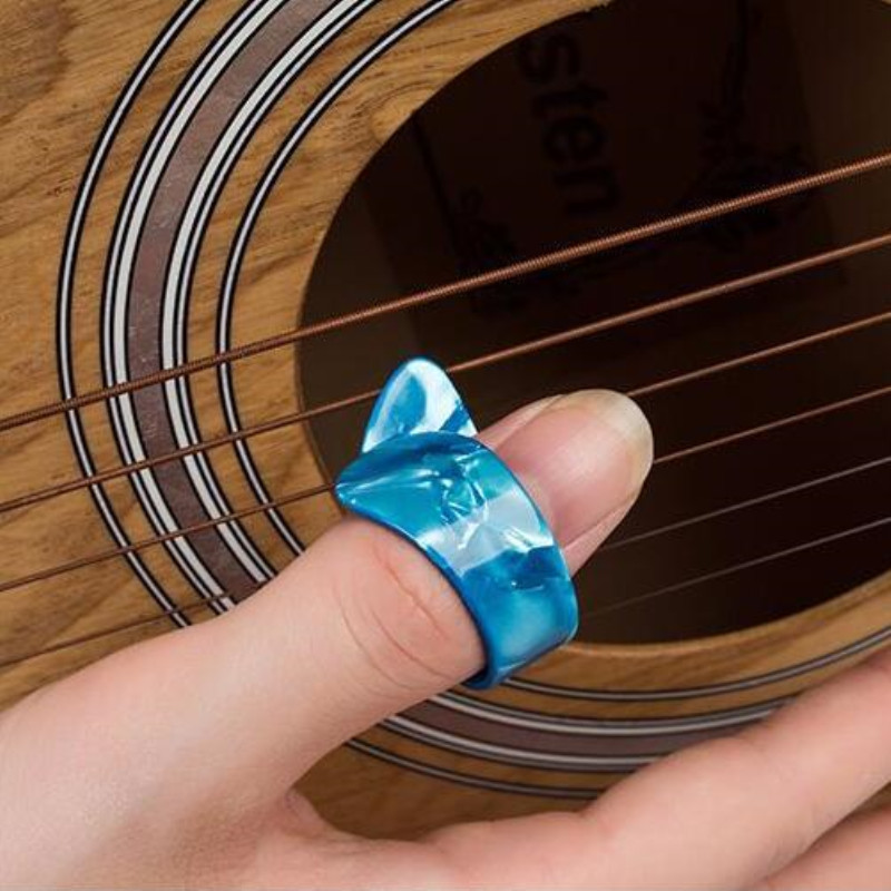 5 Piece Thumb Finger Guitar Pick Celluloid Mediator Thumbpick For Acoustic Electric Guitarra Thickness 1.2mm