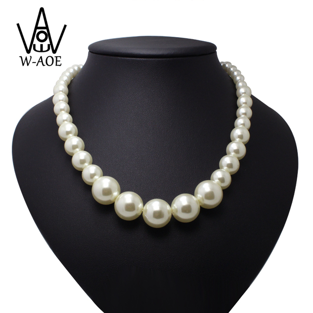 Fashion Jewelry Trendy Elegant Simulated Pearl Necklaces For Women Girl Baroque