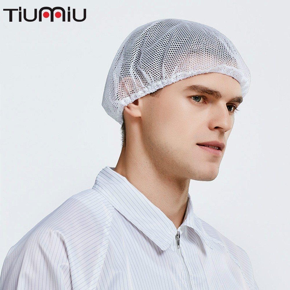 Hairnet Dust Cap Chef Men Worker Women Work Male Workshop Food Service Manufacturer Hat Cook Head Ventilation Dustproof Kitchen