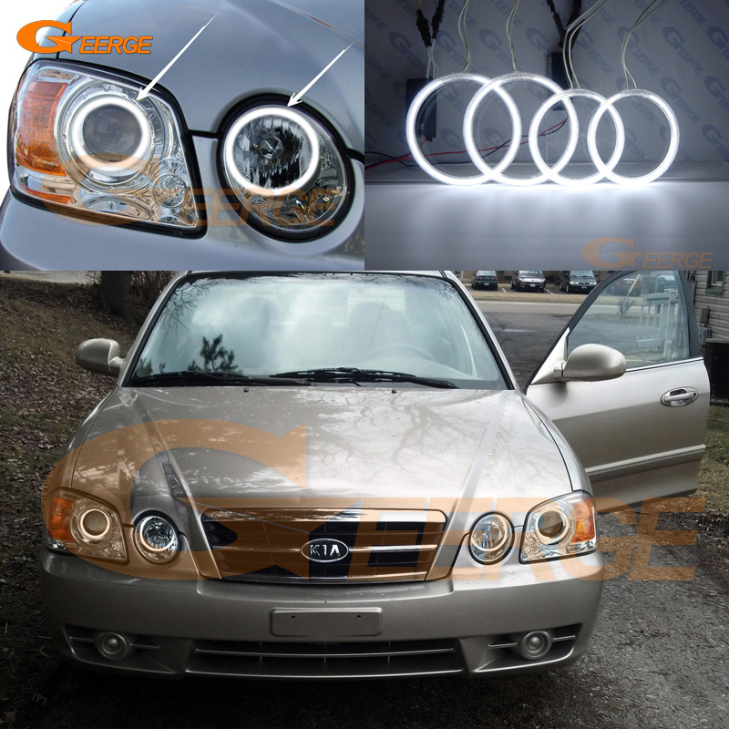 For Kia Optima MAGENTIS 2003 2004 2005 2006 Excellent angel eyes Ultra bright illumination CCFL Angel Eyes kit Halo Ring for alfa romeo 147 2000 2001 2002 2003 2004 halogen headlight excellent ultra bright illumination ccfl angel eyes kit halo ring