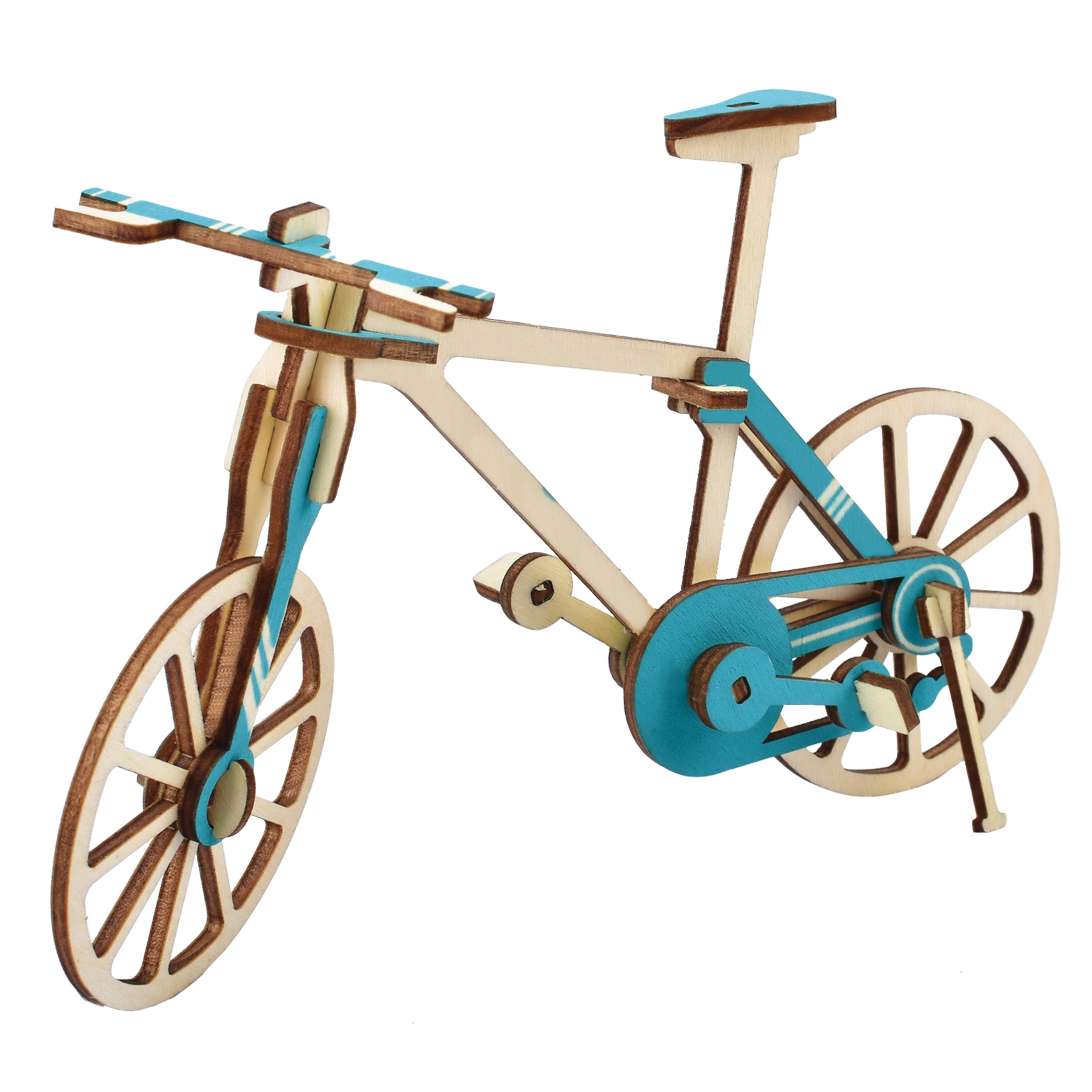 Laser Cutting New Assembly DIY Education Toy 3D Wooden Model Puzzles For Kids Gifts Of Bicycle Bike