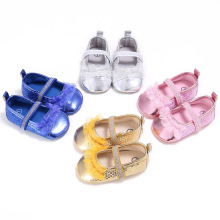 Fashion Baby Girls Shoes Bling Bling Sequins Wedding Party Shoes Sweet Lace Princess Kids Bebe Infant Crib Mary Jane Prewalkers