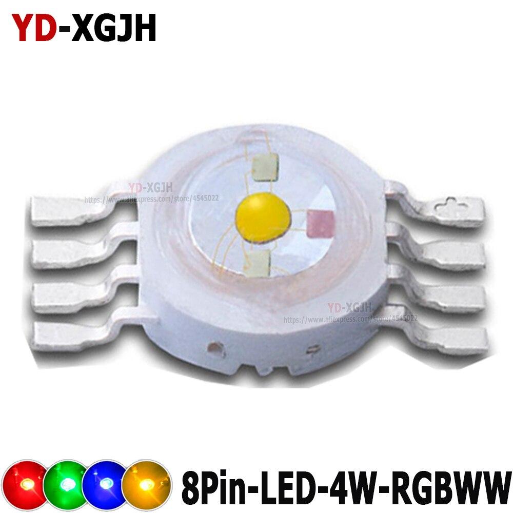 4Pin 6Pin 8Pin 10Pin RGB RGBWW RGBW RGBWY LED Chip Stage Light Beads For 4W RGBWW DIY Molding LED Stage Light Source Beads