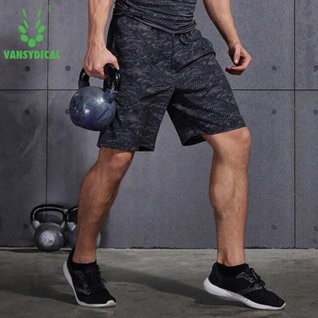 85e899f0e8093 Los hombres Deporte Pantalones cortos Fitness entrenamiento gimnasio  baloncesto rápido seco Vansydical Fondo ropa deportiva
