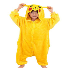 androktones 2017hot children pokemon pikachu dinosaur onesie kids girls boys warm soft animal cosplay pajamas halloween costumes