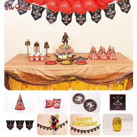 UWOWO Pirate Birthday Party Decoration Sets Welcome Party Decoration Sea Rover Halloween Party Costumes Amine Movie Cosplay
