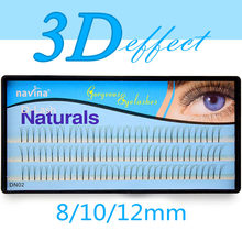 23336542b88 Navina Natural 3D Volume Effect Eyelash Extension Mink Individual Eyelashes  Long Black Makeup False Eye Lashes 3D Russian Volume