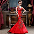 A toast to the bride clothing Europe type restoring ancient ways is the new show thin one shoulder evening dress Fishtail gown