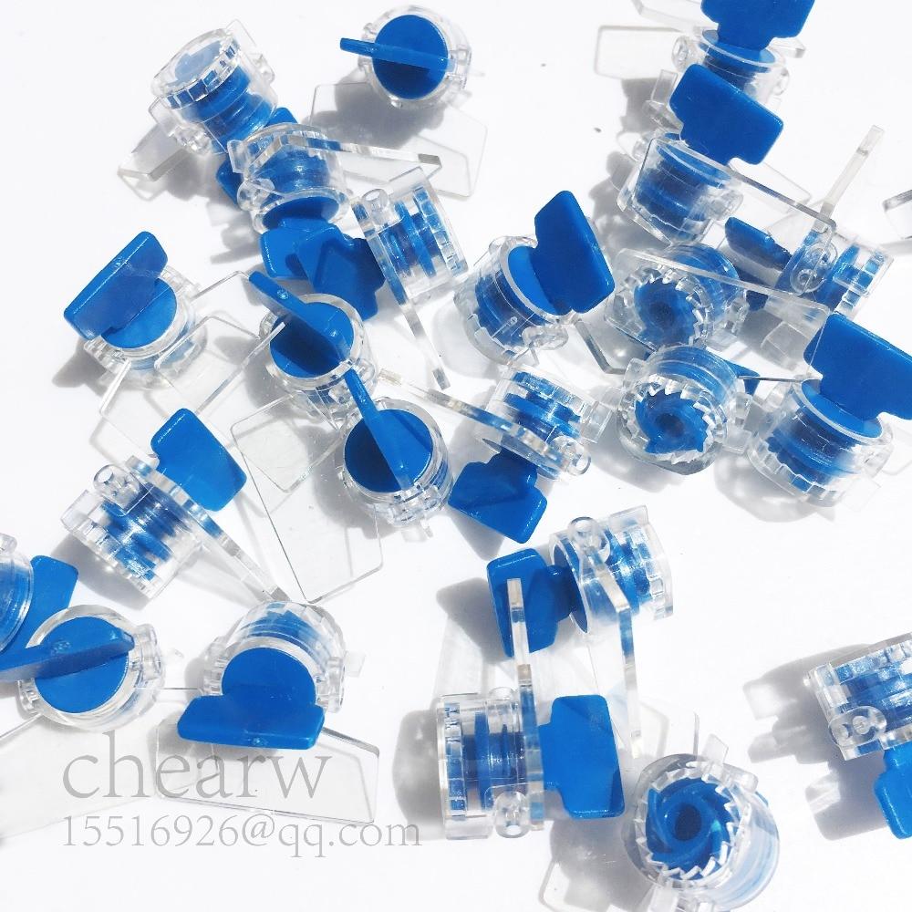 100pcs Torsion Seal Mini Plastic Seals Larser Printing Company Signs And Number