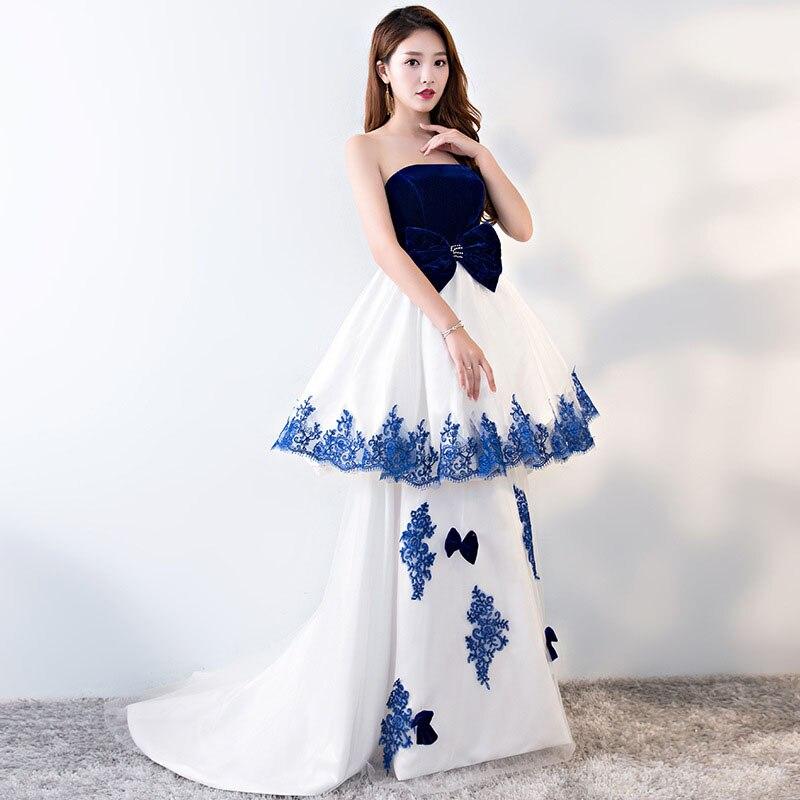 Porcelana chinesa Azul Branco Vestidos de Celebridades