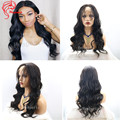Deep Part 13*6 Lace Front Wigs Virgin Brazilian Human Hair Glueless Body Wave Lace Front Wigs With Extra Long Part Space