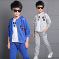 Kids Boys Spring / Autumn 2017 new 2pcs set baby boys clothing fashion glasses pattern big virgin suit 6/7/8/9/10/11/12/13 years