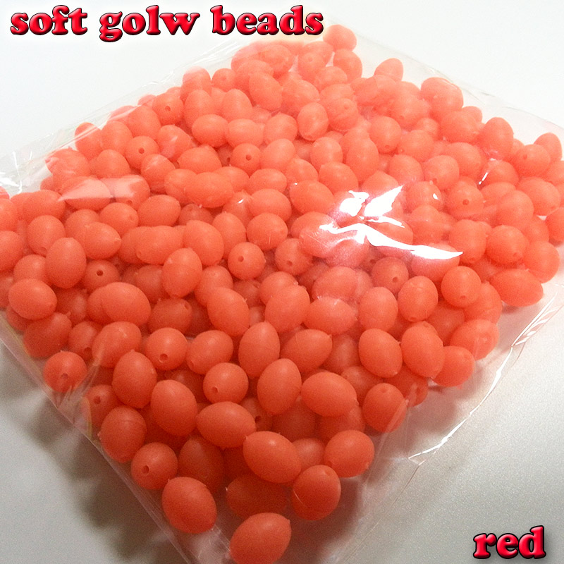 2018 fishing soft glow oval beads size 3*4 4*6 5*8 6*8 6*10 7*10 8*12cm color: RED 1000pcs/lot 1000pcs 1210 5 6r 5r6 5 6 ohm 5