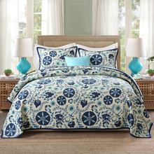 Quality Cotton Bedspread Comfort Quilt Set 3pcs Quilted bedding Chinese Style Print Quilts Bed Covers King Size Coverlet Blanket