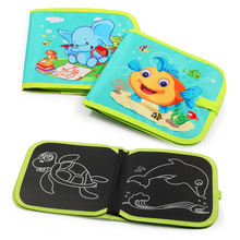 Board Game Educational Toys Children Graffiti Soft Sketchpad Multi-function 8 Surface Coated with a Chalk Painting Writing
