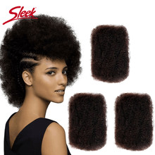 Sleek Remy Human Hair Bulk No Attachment Mongolian Afro Kinky Curly Wave Bulk For 1Pc Braiding Crochet Braids Light as a Feather(China)