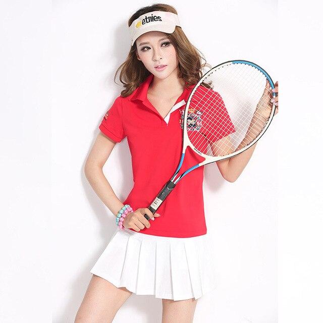 c2221b2198492 Mujer Camisas de Algodón Transpirable Deportes Ejercicio de Entrenamiento  de Tenis de ropa deportiva Trajes de