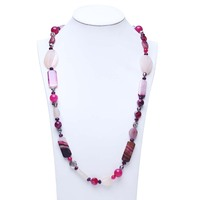 Multi Color Real Freshwater Pearl Necklaces Long Necklace Jewlery For Christmas Gifts