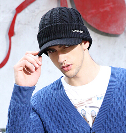Lanmer male winter outdoor cap knitted hat male hat hiphop