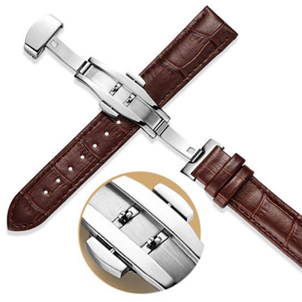 Double Click Butterfly Watchband Buckle Push Clasp Button Fold Deployment Watchband Clasp 4/16/18/20/22mm Buckles Accessories штукатурка фактурная мокрый бриз серебристо белая вгт 6кг