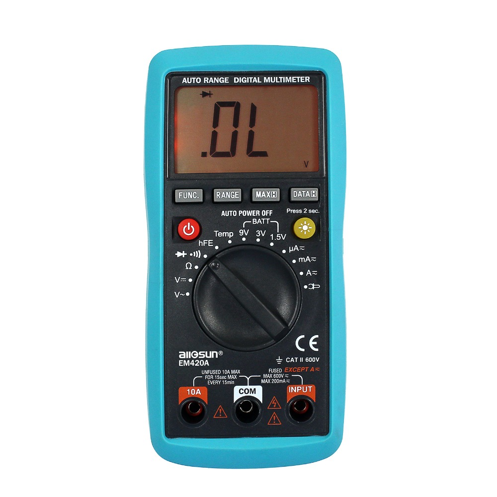 all sun em420a digital multimeter continuity diode transistor battery tester measuring current. Black Bedroom Furniture Sets. Home Design Ideas