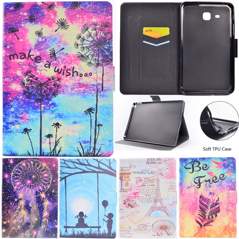 Wekays Case For Samsung Galaxy A 2016 7.0 T280 T285 Stand Flip Fundas Case For Coque Samsung Tab A A6 7.0 T280 Tablet Cover Case