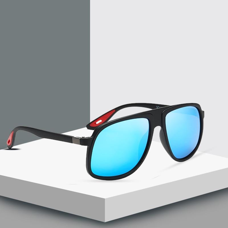 Sunglasses Men Polarized Oversized Mirror Driving Sun Glasses Man Brand Designer Retro Driver Sunglass Goggles