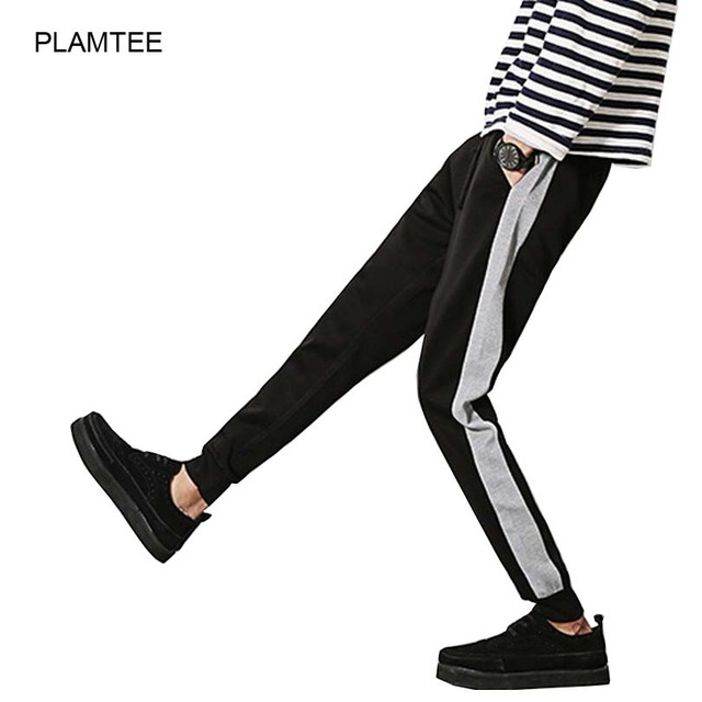 Ocasional Más Tamaño Harem Pantalones con Bolsillo Patchwork Pantalón de Otoño Suave hombres de Pantalones Con Cordón Pantalones de Moda Hombre M-5XL