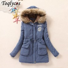 2018 New Parkas Female Women Winter Coat Thickening Cotton Jacket Womens Outwear for 126