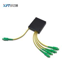 SC APC/ SC UPC Connector 1X4 ABS Box plc splitter Module Type  Optical Splitter 2.0mm Cable Fiber Optical Splitter