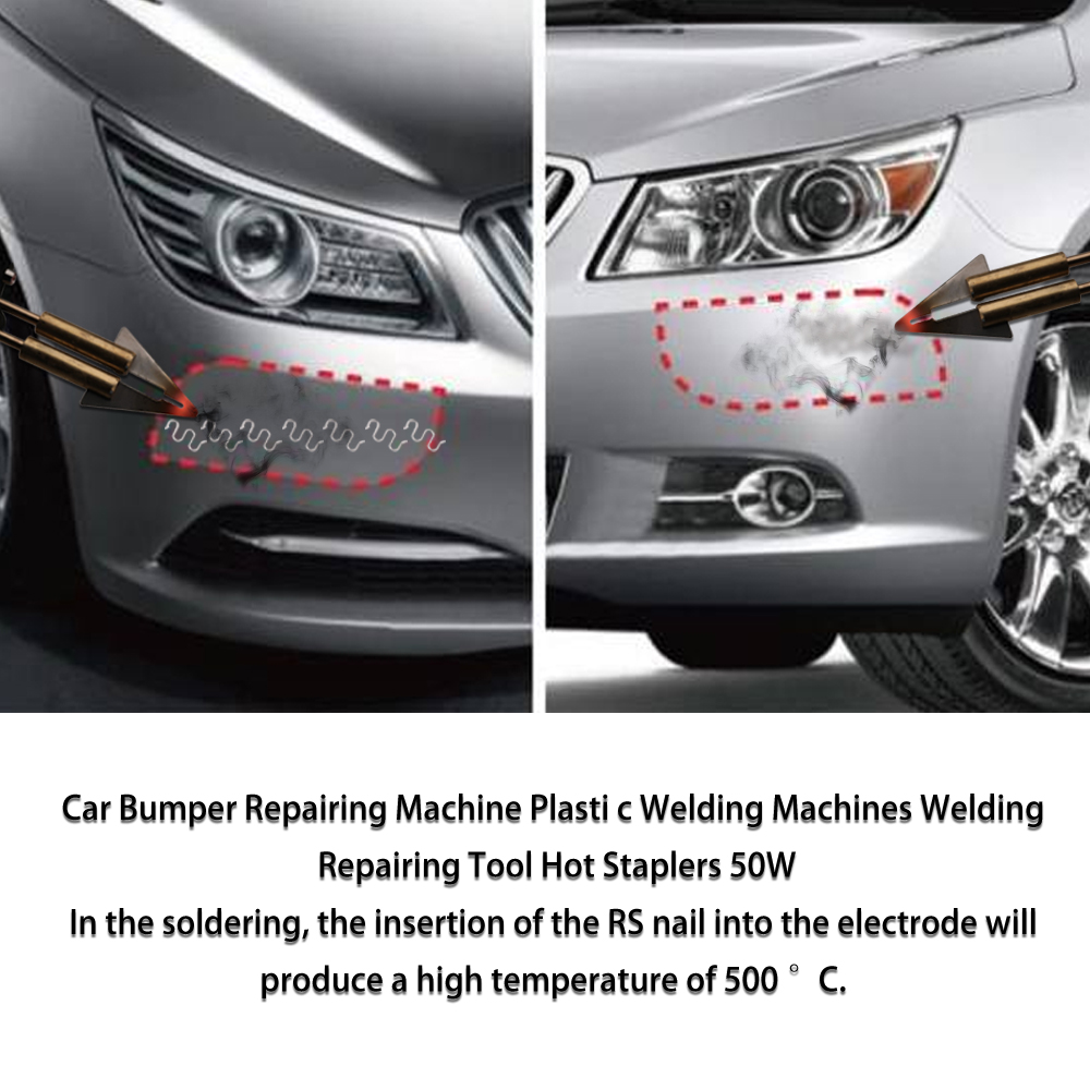 Image 5 - 50W Car Bumper Repairing Machine Plastomer Welding Machines Welding Repairing Tool Hot Staplers for Repairing Plastics PartsPlastic Welders   - AliExpress