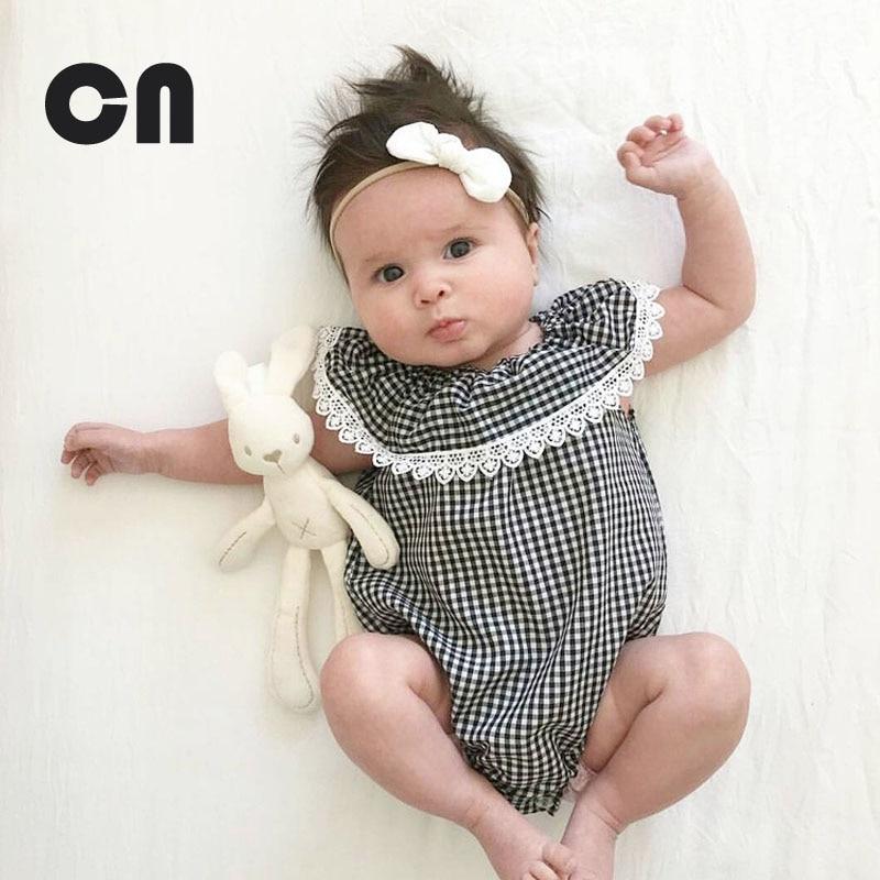 0-2 жастағы жазғы Baby қыз Bodysuits Мақта - Балаларға арналған киім - фото 1