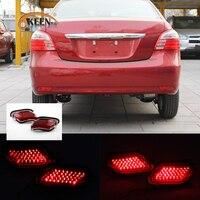 OKEEN 2PCS Car LED Rear Bumper Reflector Light for Toyota Vios/New Yaris 2008 2011 2012 2013 Parking Warning Tail Fog Lights 12V