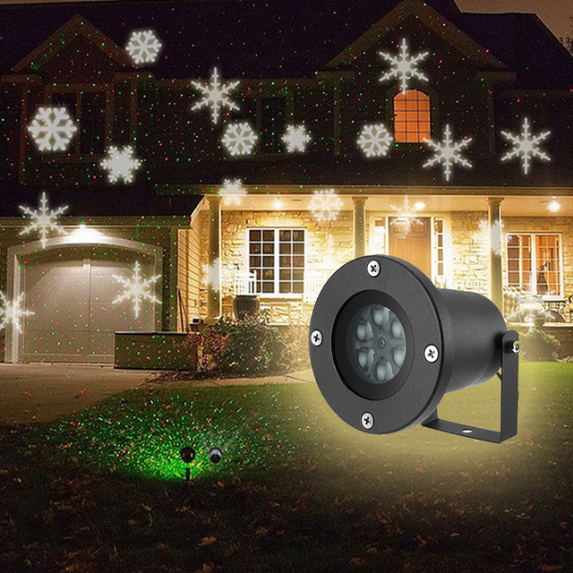 Outdoor Lawn Light 6W Garden Led Lights 6 LEDs IP65 Waterproof Snowflake  Light Projector Garden Decoration