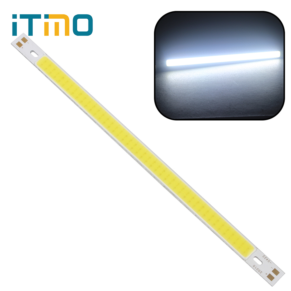 200 x 10MM Super Bright For DIY COB High Quality 12V Warm White Pure White LED Strip Light Lamps Bulb 10W 1000LM 120mmx36mm warm white pure white cob led strip lamp lights bulb 10w 1000lm super bright 12v 24v for diy high quality