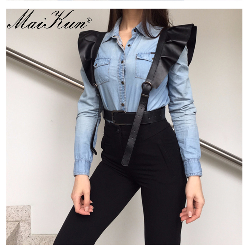 MaiKun Belts For Women Luxury Female Adjustable Harness Belt Leather Belt Cummerbund