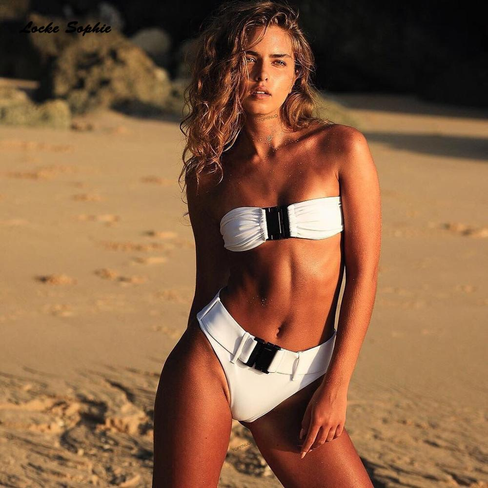 2piece set womens Sexy Bra and shorts 2019 Summer cotton blend Splicing Secret button super bikini suits set ladies suit twinset in Women 39 s Sets from Women 39 s Clothing