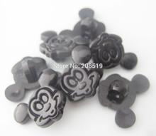 NBNLLA 100 pieces Black Buttons Micky shape shank sewing plastic buttons for children garment decoration