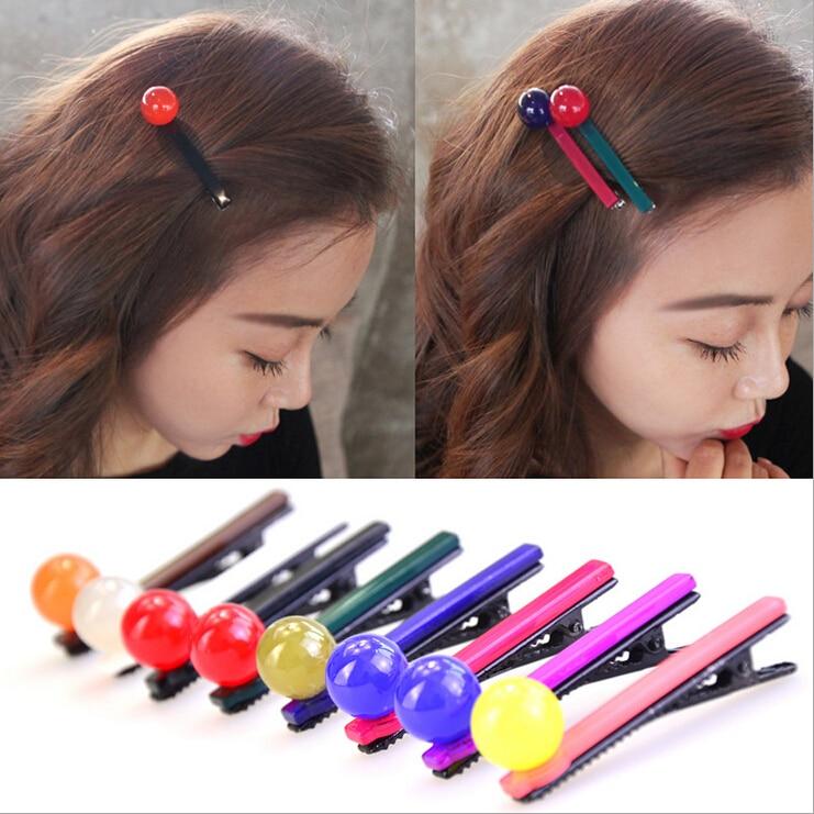 Femmes Large en plastique 8 cm Snap Clip Forte Bec Pince Cheveux Accessoires diapositives