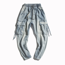 купить Spring New Jeans Men Slim Fashion Retro Casual Denim Pants Man Streetwear Trend Wild Hip Hop Harem Pants Male Clothes M-2XL дешево