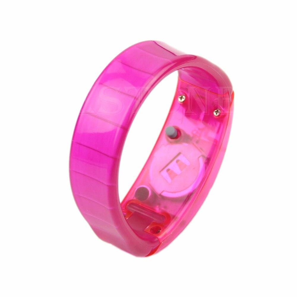 Voice Control LED Light Glows Wristbands Party Rave Concert Bangle Bracelet W715