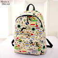 Mara's Dream 2016 Canvas Printing Anime Adventure Time Big Capacity Zipper Softback Backpack Teenage Mochila Feminine Bagpack