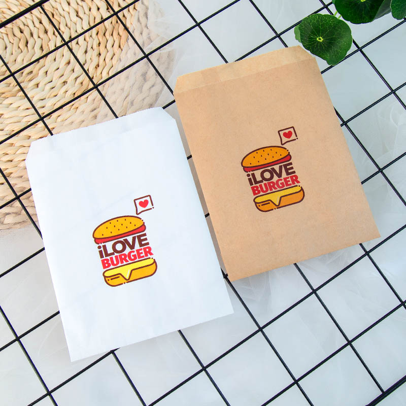 Us 3 89 Set Of 25 I Love Burger Bags Birthday Party Decorations Candy Favor Bags For Cookies Popcorn Buffet Favor Gift Bag In Gift Bags Wrapping