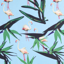 Leo & lin luz azul do vintage designer roupas flamingo poliéster organza retalhos tecido para diy costura design tissus 50cm