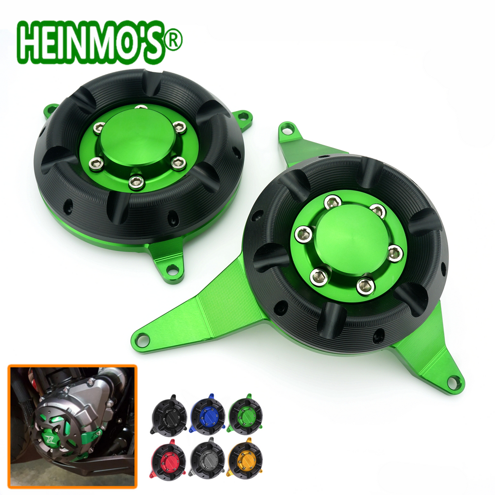 High Quality Motorcycle Aluminum Engine Protective Cover Guard Green Color For Kawasaki Z900 Z 900 2017 aluminum water cool flange fits 26 29cc qj zenoah rcmk cy gas engine for rc boat