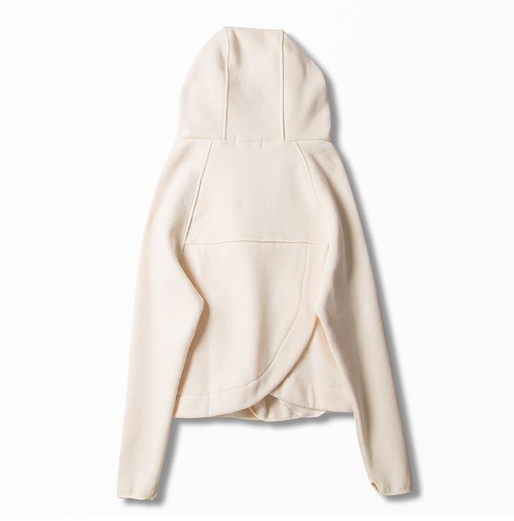 l Cordon Villosités 2 ensemble Couleur Jeune Pcs Solide Mode Femmes Coton Irrégulière De S Zipper À Pantalon Cardigan Capuchon m Mélanges Manteau 6xE471wqa